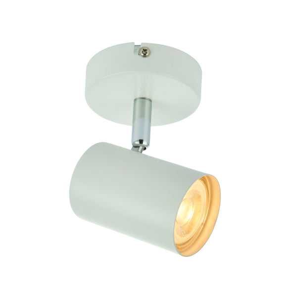 Saxby Lighting 73684 Arezzo 1 Light Matt White Wall-Ceiling Spotlight