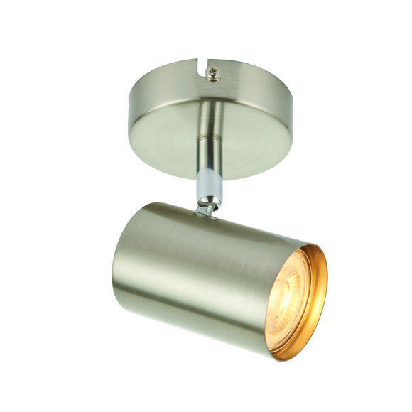 Saxby Lighting 73687 Arezzo 1 Light Satin Nickel Wall-Ceiling Spotlight