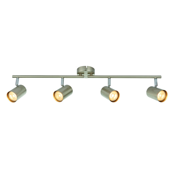 Saxby Lighting 73689 Arezzo 3 Light Satin Nickel Bar Ceiling Spotlight