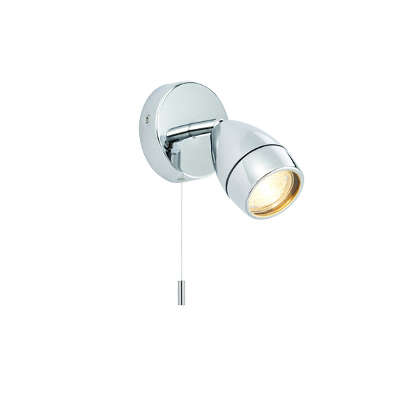 Endon Lighting 73691 Porto 1 Light Chrome Wall Spotlight (IP44) (Switched)