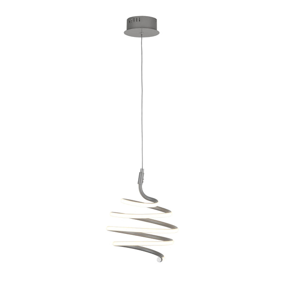 Searchlight 7458GY Swirl Painted Grey LED Pendant Ceiling Light