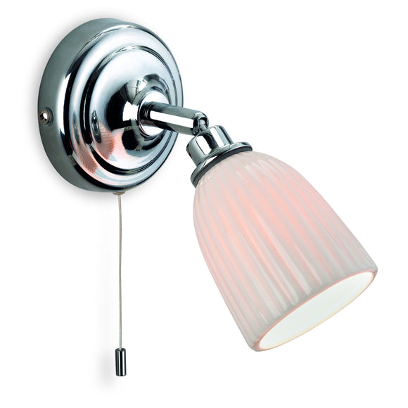 Firstlight 7630CH Metro 1 Light Polished Chrome Wall Light (Switched)