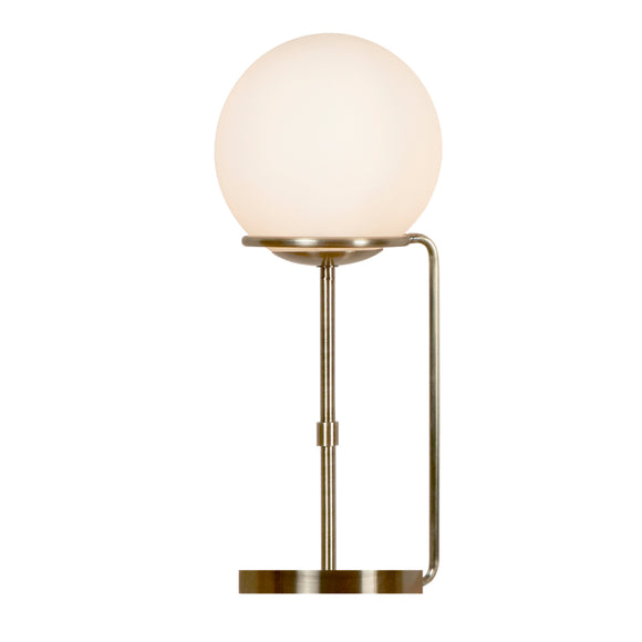 Searchlight 8092AB Sphere 1 Light Antique Brass Table Lamp