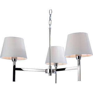 Firstlight 8218PST Transition 3 Light Polished Stainless Steel Ceiling Light