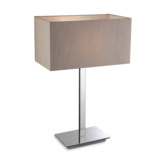 Firstlight 8329OY Prince 1 Light Polished Stainless Steel Table Lamp