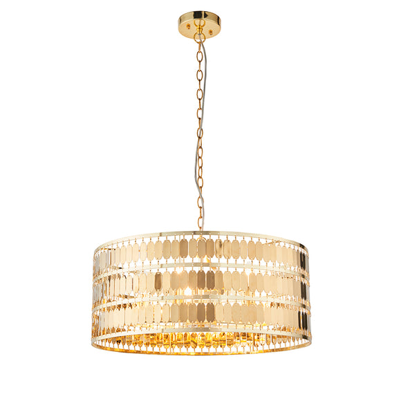 Endon Lighting 90299 Eldora 5 Light Gold Pendant Ceiling Light