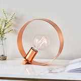 Endon Lighting 90455 Hoop 1 Light Brushed Copper Table Lamp