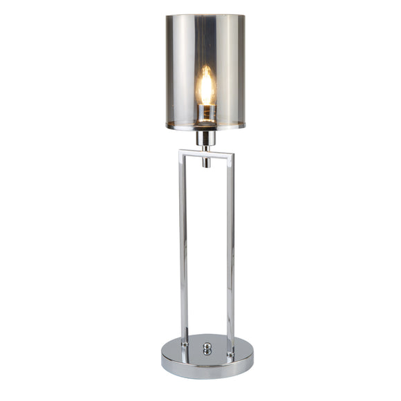 Searchlight 9052CC Catalina 1 Light Polished Chrome Table Lamp