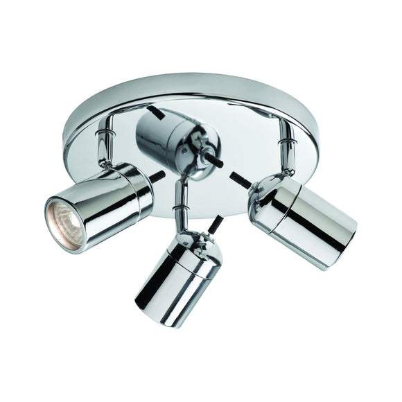 Firstlight 9070CH Atlantic 3 Light Polished Chrome Ceiling Spotlight
