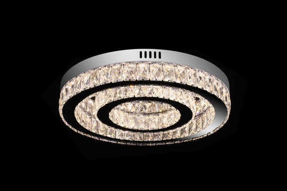 Eclipse 25562 Chrome-Crystal 3000K-6000K Tuneable White 2 Light Small LED Flush (Remote Control)