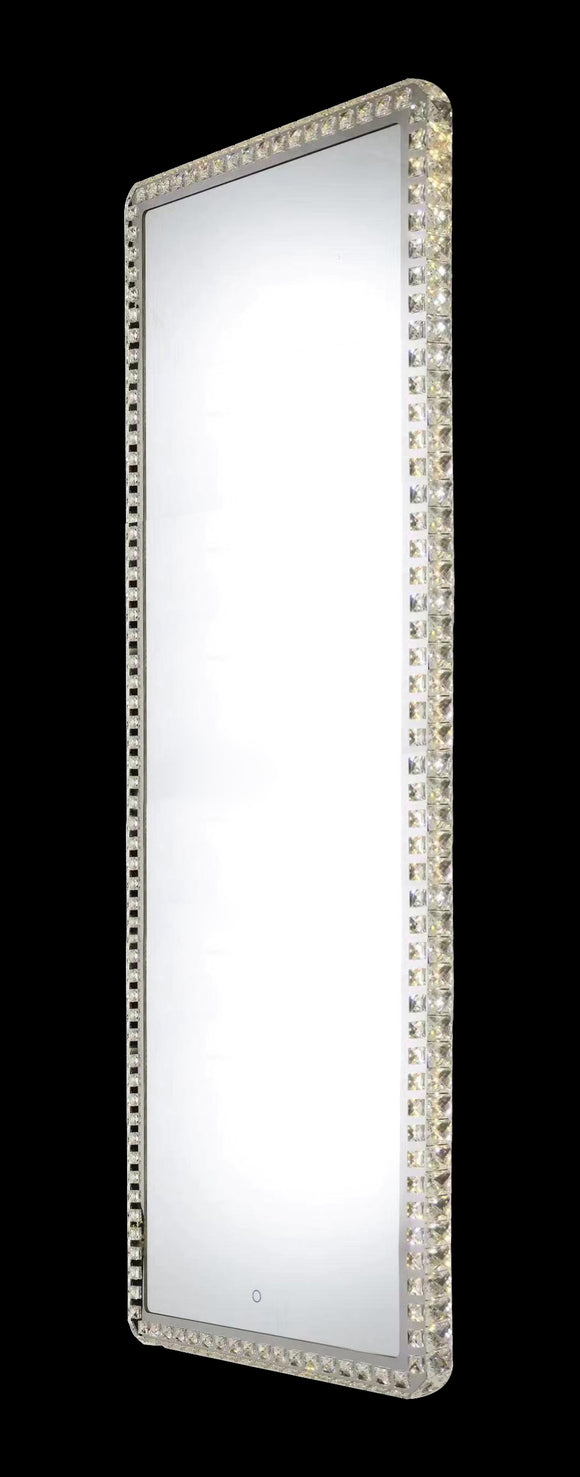 Eclipse 25611 Chrome-Crystal 3000K-6000K Tuneable White 1 Light Rectangle Illuminated Mirror (Remote Control)
