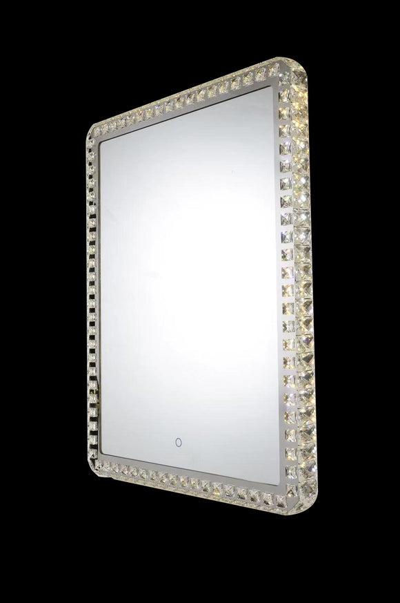 Eclipse 25613 Chrome-Crystal 3000K-6000K Tuneable White 1 Light Square Illuminated Mirror (Remote Control)