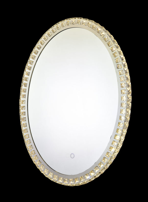 Eclipse 25612 Chrome-Crystal 3000K-6000K Tuneable White 1 Light Oval Illuminated Mirror (Remote Control)