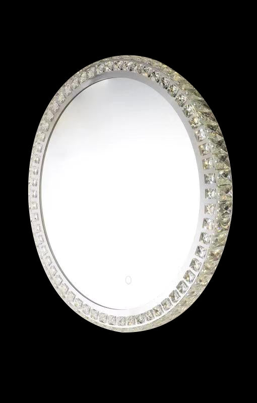 Eclipse 25613 Chrome-Crystal 3000K-6000K Tuneable White 1 Light Round Illuminated Mirror (Remote Control)