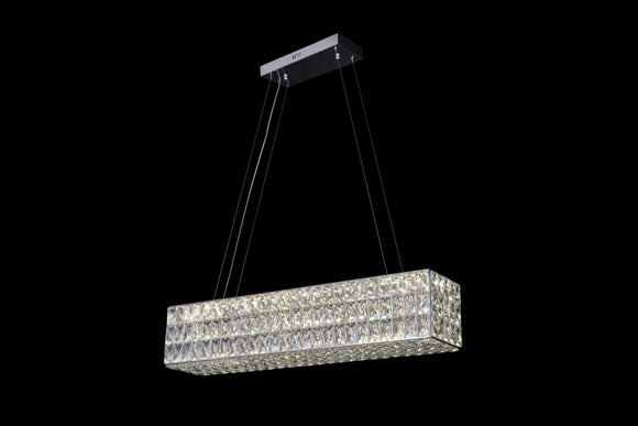 Eclipse 25602 Chrome-Crystal 3000K-6000K Tuneable White Large Linear LED Pendant (Remote Control)