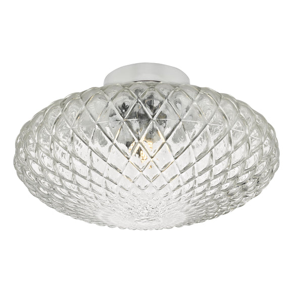 där Lighting BIB3008 Bibiana 1 Light Polished Chrome with Clear Glass Large Wall/Ceiling Light