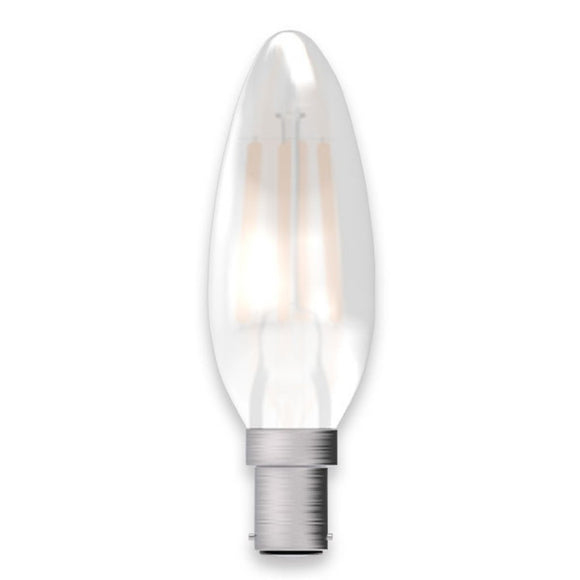 C-Lighting 25348 5w SBC - B15 Dimmable Candle Lamp 470 Lumen Clear (2700k)