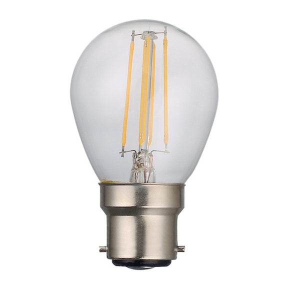 C-Lighting 25349 5w BC - B22 Dimmable Golfball Lamp 470 Lumen Clear (2700k)