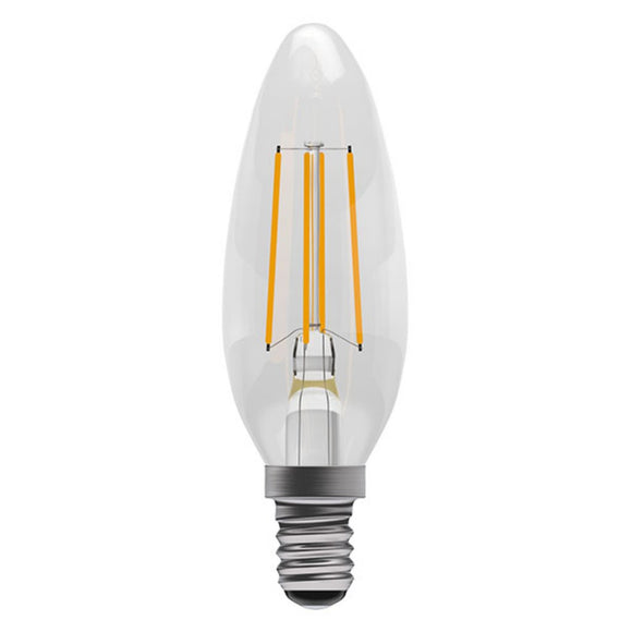 C-Lighting 25340 4w SES - E14 Dimmable Candle Lamp 360 Lumen Clear (2700k)