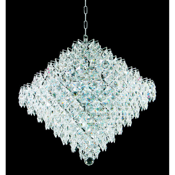 Impex Lighting CE01081-18-CH Diamond 18 Light Polished Chrome And Crystal Pendant Ceiling Light