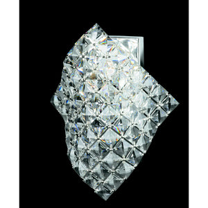 Impex Lighting CE01081-WB-CH Diamond 1 Light Polished Chrome And Crystal Wall Light