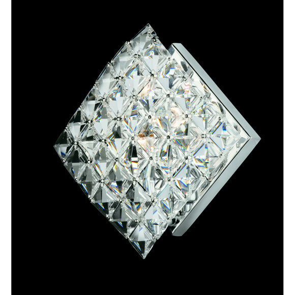 Impex Lighting CE01082-WB-CH Diamond 1 Light Polished Chrome And Crystal Wall Light