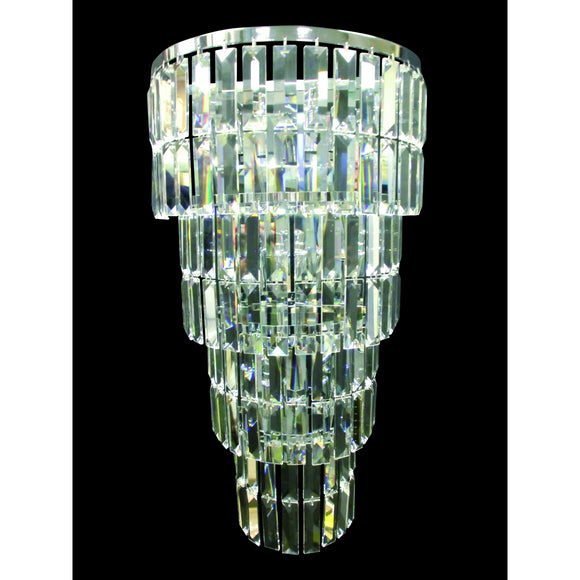 Impex Lighting CE20610-05-WB-CH Padua 5 Light Polished Chrome And Crystal Wall Light