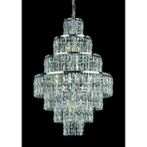 Impex Lighting CF03220-08-CH New York 8 Light Polished Chrome And Crystal Pendant Ceiling Light