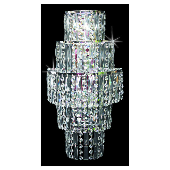 Impex Lighting CF03220-WB-CH New York 3 Light Polished Chrome And Crystal Wall Light