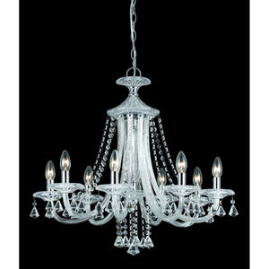Impex Lighting CF112151-08-CH Calgary 8 Light Polished Chrome And Crystal Pendant Ceiling Light