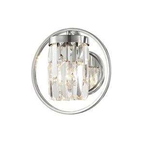 Impex Lighting CF1703-01-WB-CH Talin 1 Light Polished Chrome And Crystal Wall Light