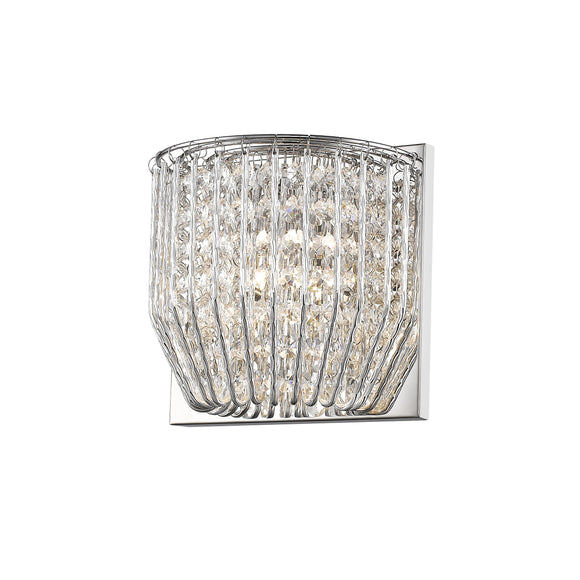 Impex Lighting CFH508052-01-WB-CH Carlo 1 Light Polished Chrome And Crystal Wall Light