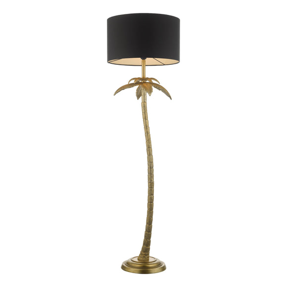 där Lighting COC4935 Coco Antique Gold Floor Lamp Complete With Shade