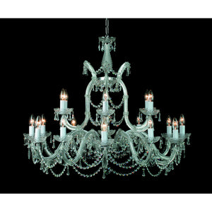 Impex Lighting CP00150-18+1-G Marie Theresa 19 Light Gold And Crystal Pendant Ceiling Light