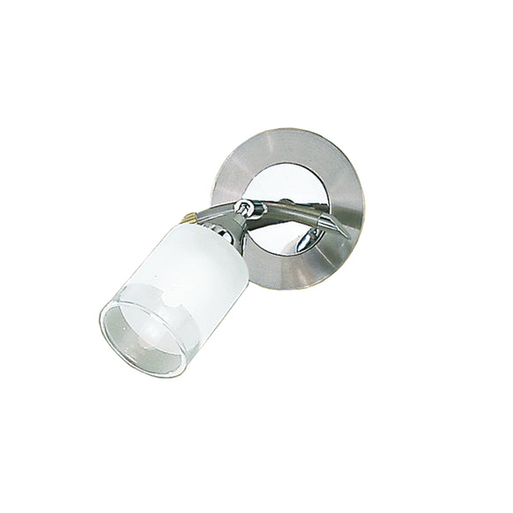 Franklite DP40021 Campani 1 Light Chrome-Satin Nickel Wall Spotlight (Switched)