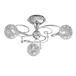 Franklite FL2214-3 Orion 3 Light Polished Chrome Semi Flush Ceiling Light