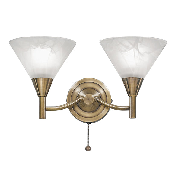 Franklite FL2251-2 Harmony 2 Light Bronze Finish Wall Light (Switched)