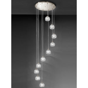 Franklite FL2300-10 Tierney 10 Light Satin Nickel Pendant Ceiling Light