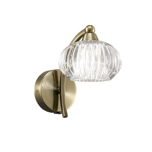 Franklite FL2336-1 Ripple 1 Light Bronze Wall Light (Switched)