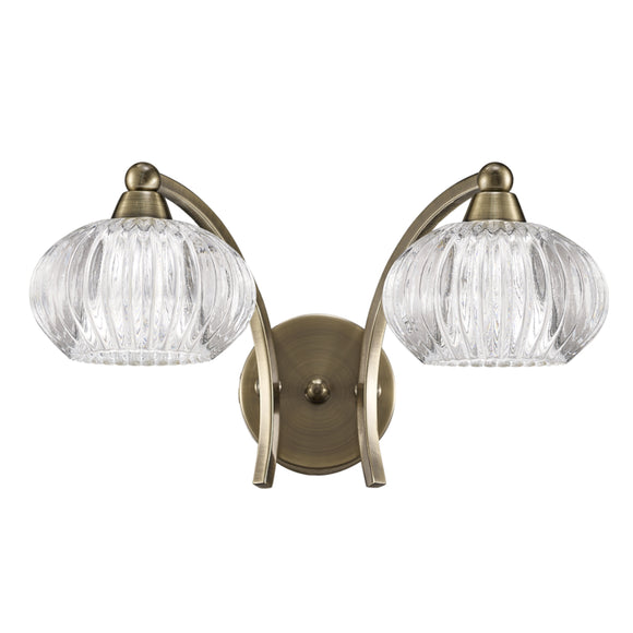 Franklite FL2336-2 Ripple 2 Light Bronze Wall Light (Switched)