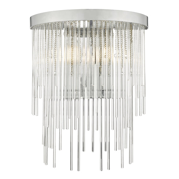 där Lighting ISL0950 Isla 2 Light Polished Chrome And Clear Glass Dual Mount