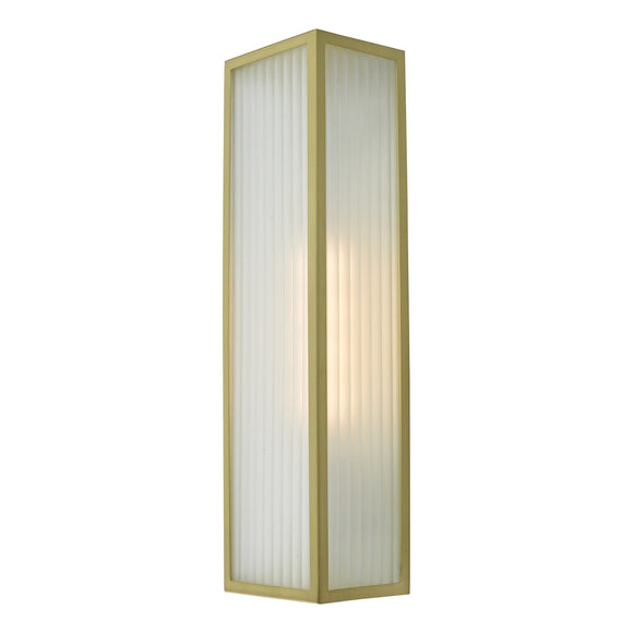 där Lighting KEE5041 Keegan 1 Light Satin Brass IP44 Wall Light