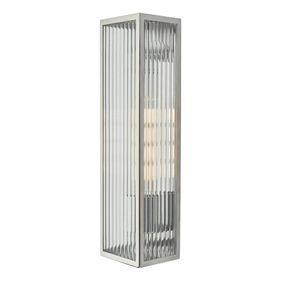 där Lighting KEE5044 Keegan 1 Light Polished Stainless Steel IP44 Wall Light