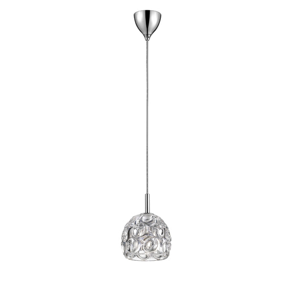 Impex Lighting CFH1704-01-CH Clea 1 Light Polished Chrome Pendant Ceiling Light