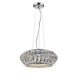 Impex Lighting LED1705-04-CH Armel 4 Light Polished Chrome And Crystal Pendant Ceiling Light