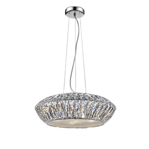 Impex Lighting LED1705-05-RG Armel 5 Light Rosey Gold And Crystal Pendant Ceiling Light