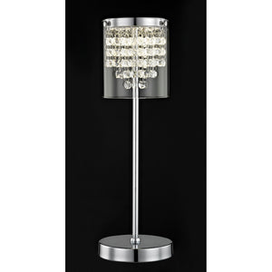 Impex Lighting LED608242-01-TL-CH Florina 1 Light Polished Chrome And Crystal Table Lamp
