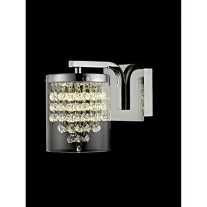 Impex Lighting LED608242-01-WB-CH Florina 1 Light Polished Chrome And Crystal Wall Light