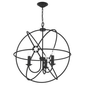 David Hunt Lighting ORB0322 Orb 3 Light Black Ceiling Light