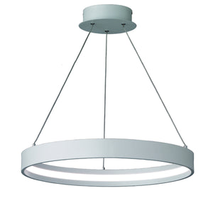 Franklite PCH118 Hollo Ivory Finish LED Ceiling Pendant (Small)
